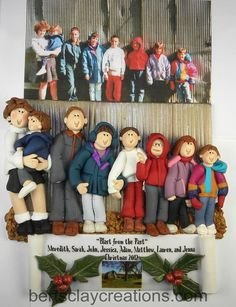 Custom Ornament Deposit  Large Families by BertsClayCreations, $25.00