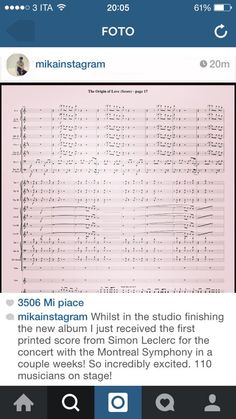 from Mika's instagram, sheet music for the symphony concerts in Montreal!!!!