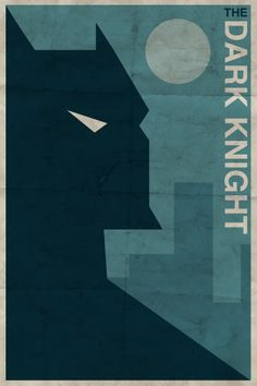 Dark Knight (vintage style character poster) | By: Michael Myers