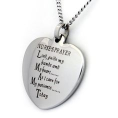 Nurse's Prayer  Heart Necklace, Nurse Gifts, Gifts for Her, Gifts for Women on Etsy, $29.50