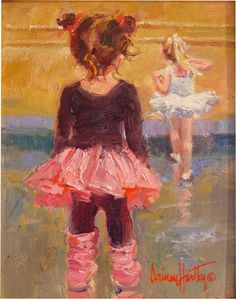 "Corinne Hartley (California Impressionist artist)  ""I Want To Be Like Her"""