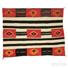 Navajo Chief's Pattern Weaving | Sale Number 2862B, Lot Number 288 | Skinner Auctioneers