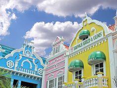 Oranjestad, Aruba - love all the colors!