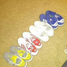 Sneaker 4 pair of worn Samoas. Barely worn has wrinkle in toe because of material of shoe and fit. Adidas Shoes Sneakers