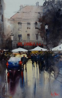 Rainy Day, Berlin By Alvaro Castagnet.