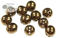 RounTrio 3-hole round shape beads from the Czech Republic