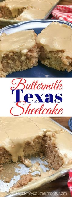 classic sheet cake with buttermilk. This is a classic sheet cake with buttermilk and a creamy brown sugar and butter frosting. It's a moist and delicious dessert that is perfect for church potlucks, holiday treats, family gatherings, and dessert. Potluck Desserts, Desserts To Make, Church Potluck Recipes, Health Desserts, Sheet Cake Recipes, Frosting Recipes, Sheet Cakes, Buttercream Frosting, Recipe Sheet