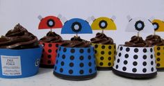 dalek cup cakes