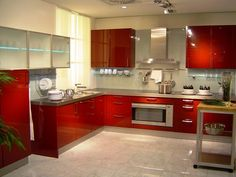 Contemporary Kitchen Cabinet Colors and Lighting