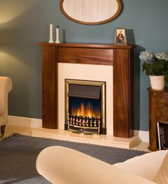 Ashington Brass Inset Electric Fire, From Dimplex