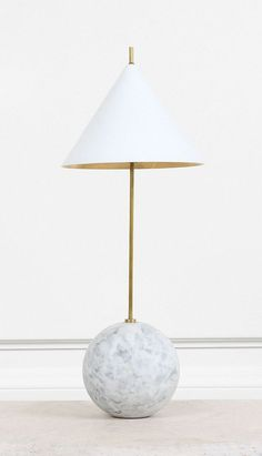 KELLY WEARSTLER | CLEO ORB BASE ACCENT LAMP.