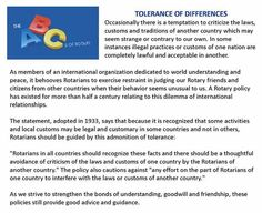Rotary Club ABCs-Tolerance of Differences, Rotary Club of Dawson County, Dawsonville, GA