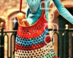 crochet bag patterns – Etsy UK