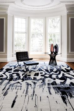 What an amazing rug...perfect foundation piece for the room.