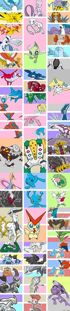 Pokemon - The Legendaries -- Masterpost