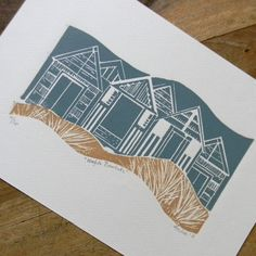 Mangle Prints on #folksy £25 Norfolk Beachhuts