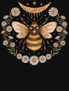 """""""Flitterwochen"""" T-Shirt von Laorel Art And Illustration, Gravure Illustration, Painting Inspiration, Art Inspo, Kunst Inspo, Wal Art, Creation Art, Art Graphique, Moon Art"""