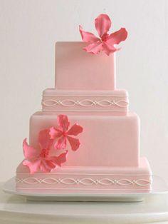 So beautiful and modern - love it! 50 Prettiest Wedding Cakes!TheKnot.com -