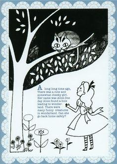 kawaii Shinzi Katoh postcard Alice in Wonderland 1