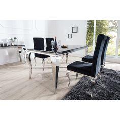Eettafel Modern Barock 200cm zwart - 37356
