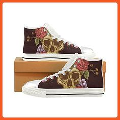 D-Story Custom Skull Womens Classic High Top Canvas Shoes Fashion Sneaker - Sneakers for women (*Amazon Partner-Link)