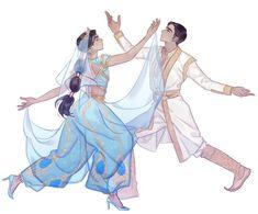 Princess Jasmine and Aladdin as Prince Ali's Arabian dance from Disney's live action movie, Aladdin