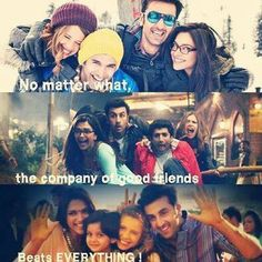 Luv my frnds Real Friendship Quotes, Bff Quotes, Movie Quotes, Friends Moments, Friends Forever, Crazy Friends, Best Friends, Yjhd Quotes, Deepika Padukone Style