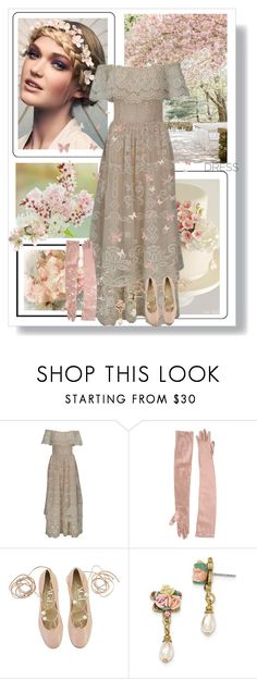 """""""Spring Trend: Off-Shoulder Dresses"""" by dezaval ❤ liked on Polyvore featuring Brunello Cucinelli, Attilio Giusti Leombruni and 1928"""