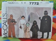 McCall's 7772 - Vintage Star Wars Costume Pattern - Chewbacca, Princess Leia, Yoda, Jawa, Darth Vader on Etsy, $31.99