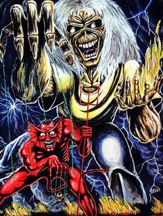 Shared by Louise Blue. Find images and videos about metal, iron maiden and the number of the beast on We Heart It - the app to get lost in what you love. Iron Maiden Cover, Iron Maiden Album Covers, Iron Maiden Albums, Iron Maiden Band, Eddie Iron Maiden, Hard Rock, Heavy Metal Rock, Heavy Metal Bands, Rock Posters
