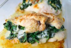 Best Baked Spinach Provolone Chicken Breasts - Yummty