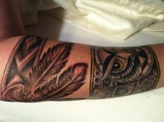 feather indian armband by Blake at Outlaw Custom Tattoo  LOVE IT!!!!