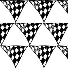 Triangle Doodles Chequer by smuk, click to purchase fabric