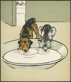 An Act of Doubtful Virtue, from Cecil Aldin and May Byron's 'Jack & Jill'