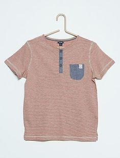 7a7fca673a4 Camiseta com listras em puro algodão - Kiabi