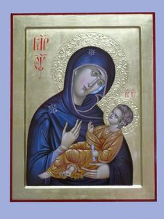 Byzantine Greek icon Virgin Mary of Don Mother of by ArtByChimevi #Orthodox #Icons - #OrthodoxIcons - #Eastern #Orthodoxy, #Theotokos, #VirginMary, #Miracle, #Blessed #Faith