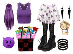 """Devil Emoji Costume"" by trolls143 ❤ liked on Polyvore featuring Kate Spade, Oasis, Repossi and Halloween100"