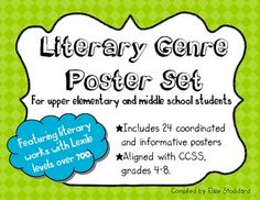 I found that most of the genre poster sets out there were either too simple or too basic for my gifted 4th and 5th grade students. This being the c...