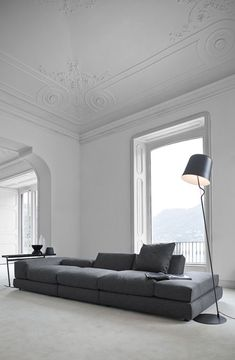 Love a classic touch with minimal decor...gives a timeless feel to a place