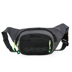 OpetHome WaterResistant Nylon Running Hiking Camping Cycling Fanny Pack with 3 Zippers Black -- Want additional info? Click on the image. #HikingPassion