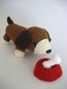 Ravelry: Puppy Play Set Amigurumi Pattern pattern by Amy Gaines. Crochet Gifts, Crochet Toys, Free Crochet, Dog Crochet, Amigurumi Patterns, Crochet Patterns, Animal Noses, Yarn Sizes, Puppy Play