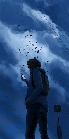 Anime Wallpaper on InspirationdeAlone Anime Wallpaper on Inspirationde Stunning Wallpaper Backgrounds For Your Phone Cool Anime Wallpapers, Anime Scenery Wallpaper, Animes Wallpapers, Cool Wallpaper, Wallpaper Backgrounds, Wallpaper Hp Iphone, Alone Boy Wallpaper, Your Name Wallpaper, Wallpaper Keren