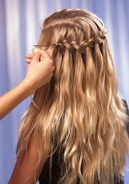 Related image Pretty Hairstyles, Waterfall Braids, Dreadlocks, Prom, Long Hair Styles, How To Make, Wedding, Image, Beauty