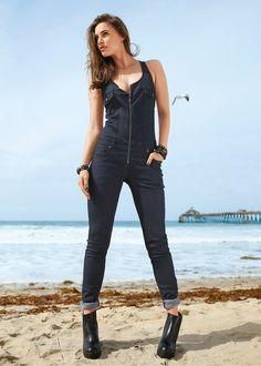 La combinaison en jean bleu stone - Femme - bonprix.fr                                                                                                                                                                                 Plus