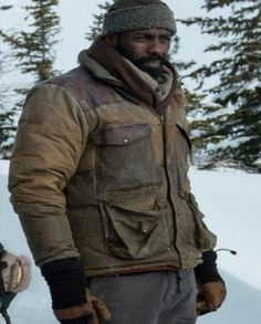 The Mountain Between Us Idris Elba Jacket Ben Bass, Film Jackets, Daddys Little Girls, Idris Elba, Rib Knit, Mountain, Homes, Watch, Classic
