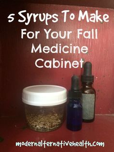 As summer winds down, our health starts to wear down. Fill the fall medicine cabinet with syrups to boost your health before illness comes blowing in.