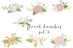 Check out Flower bouquets clip art by The Little Cloud  on Creative Market