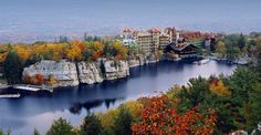 The Mohonk Mountain House.  Founded in the 1870s by Quaker Albert K. Smiley and his twin Alfred H., it is still the mountain retreat they envisioned, run by more than 15 members of the Smiley family.