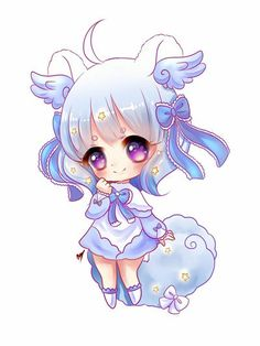 Baby Glow Chibi commission for ! Wish is such a gorgeous bab, I really had tons of fun drawing her! The glow effects fit really well with her dreamy theme too~ I'm so proud of this piece, thankyou . Chibi Kawaii, Cute Anime Chibi, Kawaii Art, Kawaii Anime Girl, Chibi Girl Drawings, Cute Kawaii Drawings, Anime Wolf Girl, Anime Art Girl, Dibujos Anime Chibi
