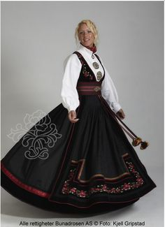 The Beltestakk from Bø, Øst-Telemark. Made by Bunad Rosen in Norway. Norwegian Clothing, Holidays In Norway, Norwegian Vikings, Norwegian Style, Beautiful Norway, Folk Embroidery, Hardanger Embroidery, Holland, Folk Costume
